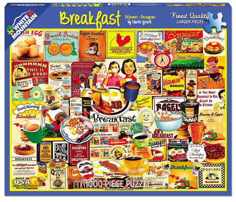 BREAKFAST - 1000 Piece Jigsaw Puzzle - Games2Puzzles