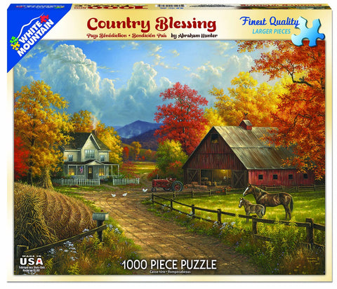 Jigsaw Puzzle Front Box Image - 1000 pc Farm, Barn, Animals