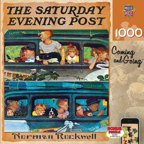 The Saturday Evening Post - Coming and Going - 1000 Piece Jigsaw Puzzle