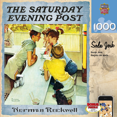 The Saturday Evening Post - Soda Jerk - 1000 Piece Jigsaw Puzzle
