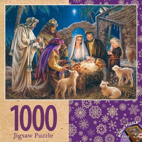 A Child is Born - 1000 Piece Jigsaw Puzzle - Games2Puzzles