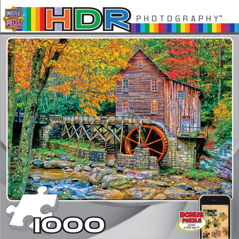 Glade Creek Grist Mill - 1000 Piece Jigsaw Puzzle
