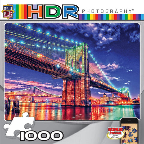 Brooklyn Lights - 1000 Piece Jigsaw Puzzle - Games2Puzzles