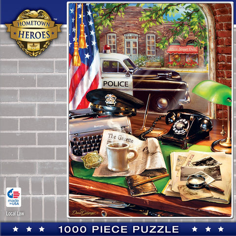 Hometown Heroes - Local Law - 1000 Piece Jigsaw Puzzle