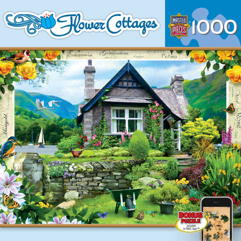 Flower Cottages - Lakeland Cottage - 1000 Piece Jigsaw Puzzle