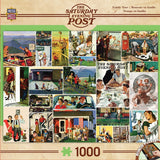 The Saturday Evening Post - Family Time Collage - 1000 Piece Jigsaw Puzzle
