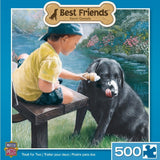 Best Friends - Treat for Two - 500 Piece Jigsaw Puzzle - Games2Puzzles
