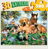 3D Extreme Lenticular - Relaxing Afternoon - 500 Piece Jigsaw Puzzle - Games2Puzzles