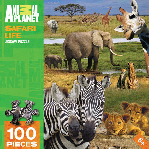 Animal Planet - Safari Life - 100 Piece Jigsaw Puzzle - Games2Puzzles