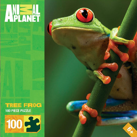 Animal Planet - Tree Frog - 100 Piece Jigsaw Puzzle - Games2Puzzles