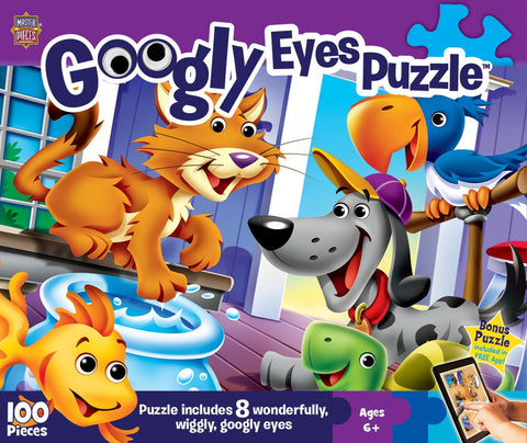 Googly Eyes - Pets - 100 Piece Jigsaw Puzzle