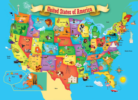 USA Map Piece Jigsaw Puzzle GamesPuzzles - Us map jigsaw puzzle