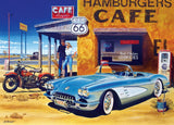 Cruisin' - Route 66 Cafe - 1000 Piece Jigsaw Puzzle