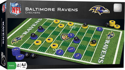NFL Checkers Game - Baltimore Ravens