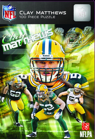 NFL Green Bay Packers - Clay Matthews - 100 Piece Jigsaw Puzzle
