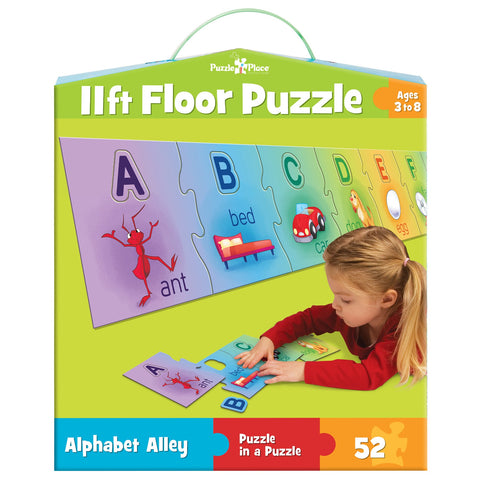 Alphabet Alley - 52 Piece Floor Jigsaw Puzzle - Games2Puzzles