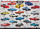 American Muscle Car Evolution - 1000 Piece Jigsaw Puzzle - Games2Puzzles