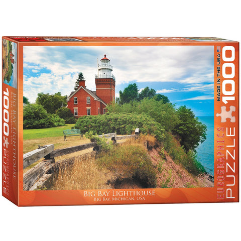 Big Bay Lighthouse - Michigan - 1000 Piece Jigsaw Puzzle - Games2Puzzles