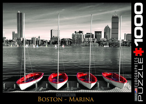 Boston Marina - 1000 Piece Jigsaw Puzzle - Games2Puzzles