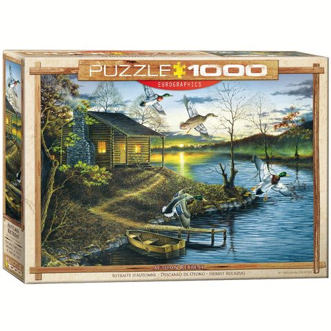 Autumn Retreat - 1000 Piece Jigsaw Puzzle - Games2Puzzles