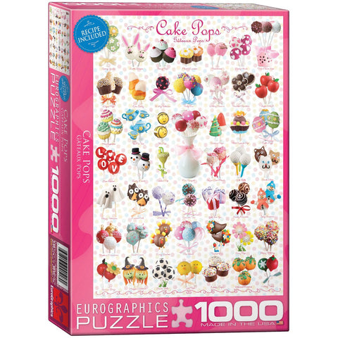 Cake Pops - 1000 Piece Jigsaw Puzzle - Games2Puzzles