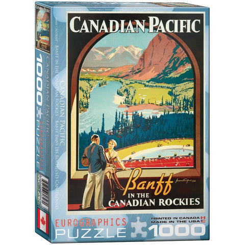 Canadian Pacific - Banff in the Canadian Rockies - 1000 Piece Jigsaw Puzzle - Games2Puzzles