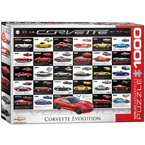 Corvette Evolution - 1000 Piece Jigsaw Puzzle