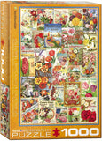 Smithsonian - Flowers Seed Catalogue Collection - 1000 Piece Jigsaw Puzzle