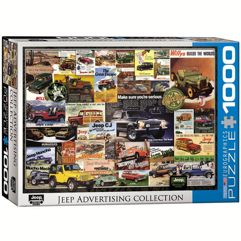Jeep Advertising Collection - 1000 Piece Jigsaw Puzzle