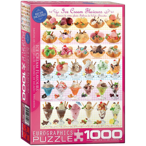 Ice Cream Flavours - 1000 Piece Jigsaw Puzzle