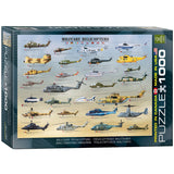 Military Helicopters - 1000 Piece Jigsaw Puzzle