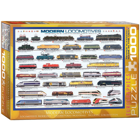 Modern Locomotives - 1000 Piece Jigsaw Puzzle