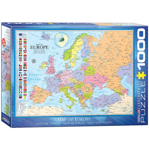 Map of Europe - 1000 Piece Jigsaw Puzzle