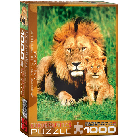 Lion & Baby - 1000 Piece Jigsaw Puzzle