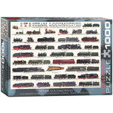 Steam Locomotives - 1000 Piece Jigsaw Puzzle