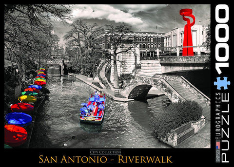 San Antonio - Riverwalk - 1000 Piece Jigsaw Puzzle