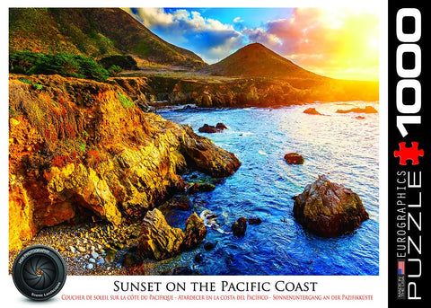Sunset on the Pacific Coast - 1000 Piece Jigsaw Puzzle