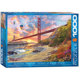 Sunset at Baker Beach - 1000 Piece Jigsaw Puzzle