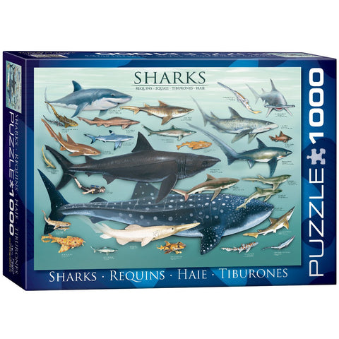 Sharks - 1000 Piece Jigsaw Puzzle