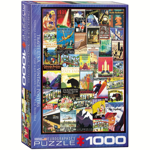 Travel USA - Vintage Posters - 1000 Piece Jigsaw Puzzle