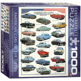 American Cars of the Fifties - 1000 Piece Jigsaw Puzzle - Games2Puzzles