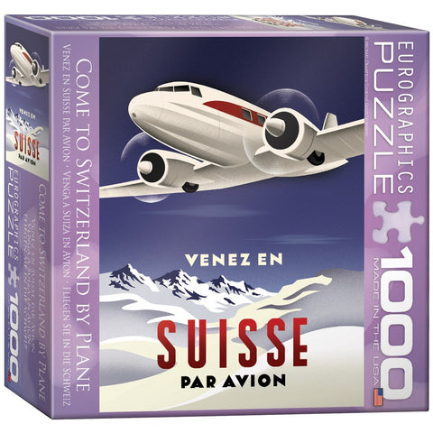 Come to Switzerland by Plane - 1000 Piece Jigsaw Puzzle