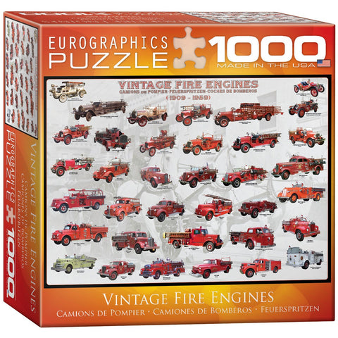 Vintage Fire Engines - 1000 Piece Jigsaw Puzzle