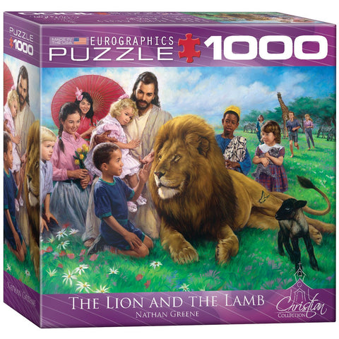 The Lion and the Lamb - 1000 Piece Jigsaw Puzzle