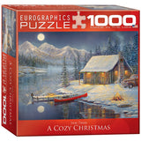 A Cozy Christmas - 1000 Piece Jigsaw Puzzle - Games2Puzzles
