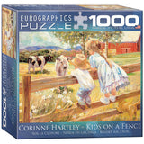 Kids on a Fence - 1000 Piece Jigsaw Puzzle