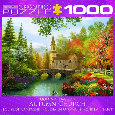 Autumn Church - 1000 Piece Jigsaw Puzzle - Games2Puzzles