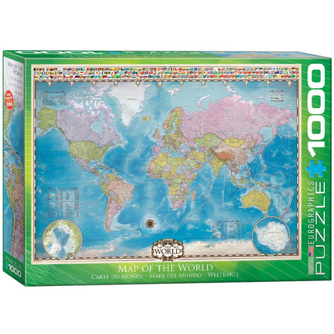 Map of the World - 1000 Piece Jigsaw Puzzle - Item  #6000-0557
