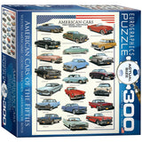 American Cars of the Fifties - 300 Piece Jigsaw Puzzle - Games2Puzzles