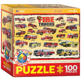 Fire Trucks - 100 Piece Jigsaw Puzzle